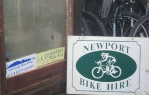 bike hire signs