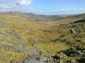 View down the Healy Pass